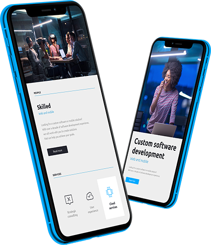Smartfony z aplikacją dostosowującą do WCAG
